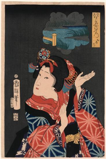 Oshichi the Young Maiden Oshichi. Utagawa-Utagawa Kuniteru-Giclee Print