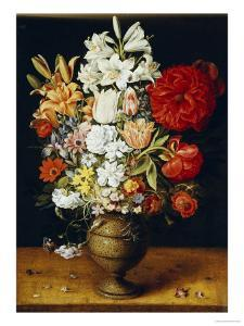 Lilies, Peonies, Tulips, Roses, Anemones and Other Flowers by Osias Beert