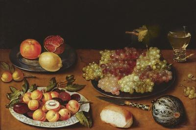 Still Life with Grapes, Pomegranates and Apricots