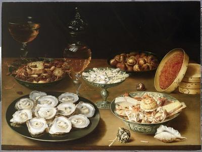 Still Life with Oysters, Sweetmeats and Roasted Chestnuts