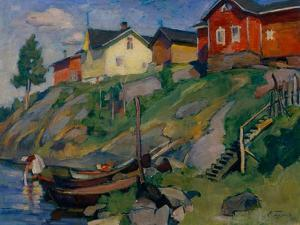 A Country Village in Finland, 1915 by Osip Emmanuilovich Braz