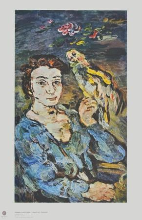 Lady with a Parrot by Oskar Kokoschka