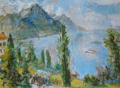 Lake Geneva, 1959 by Oskar Kokoschka