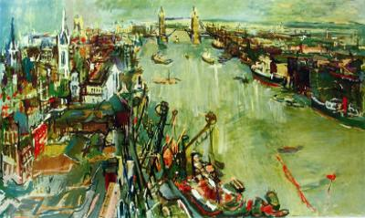 London Towerbridge by Oskar Kokoschka