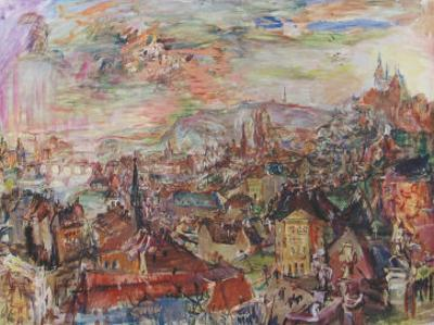 View of Prague by Oskar Kokoschka