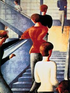 Stairs to the Bauhaus, 1932 by Oskar Schlemmer