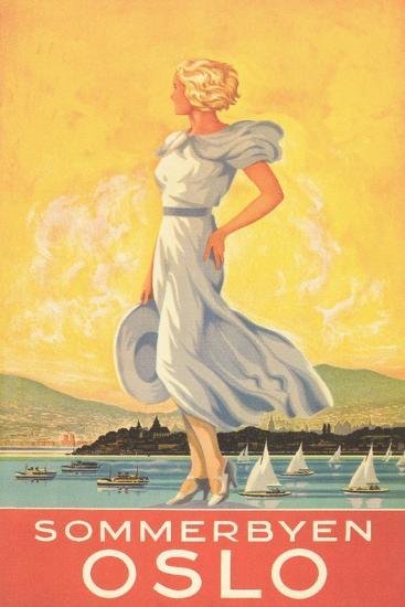 Oslo Travel Poster--Art Print