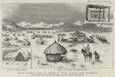 Osman Digna's Camp at Handoub, Near Suakin, Now Deserted--Giclee Print