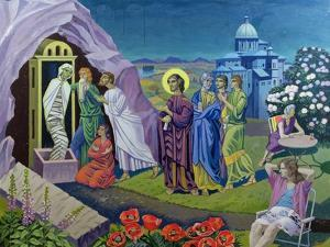 The Raising of Lazarus, 1987 by Osmund Caine