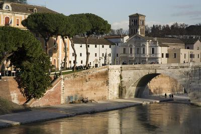 Ospedale Fatebenefratelli on the Isola Tiberina in Rome, Italy-Scott S^ Warren-Photographic Print