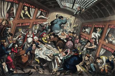 Ostend Packet in a Squall: a View of Passengers-George Cruikshank-Giclee Print
