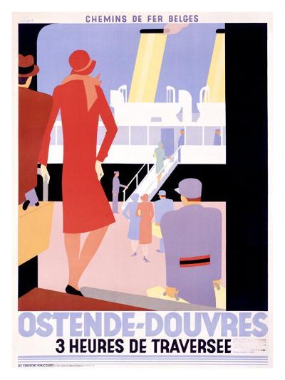 Ostende-Douvres-Leo Marfurt-Giclee Print