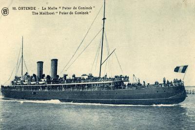 Ostende, La Malle Peter De Coninck, Mailboat--Giclee Print