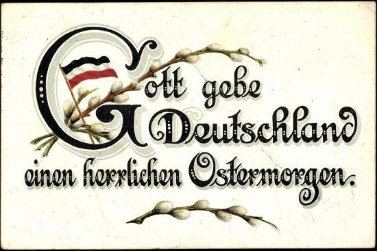 Ostergruß an Deutschland, Fahne--Giclee Print