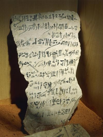 Ostraka with Hieratic Writing--Giclee Print