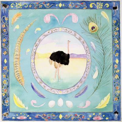 Ostrich (Month of August from a Calendar)-Vivika Alexander-Giclee Print