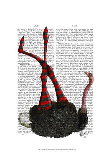 Ostrich with Striped Leggings-Fab Funky-Art Print