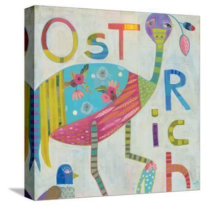 Ostrich-Julie Beyer-Stretched Canvas Print