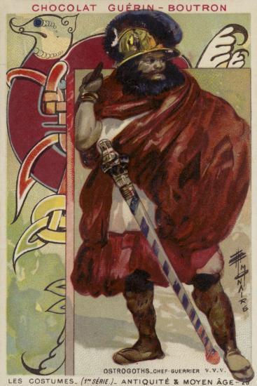 Ostrogoth Warrior Chieftain--Giclee Print