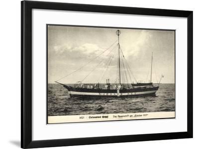Ostseebad Graal Müritz, Feuerschiff, Gjedser Riff--Framed Giclee Print