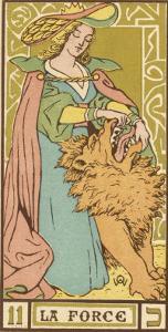 Tarot: 11 La Force, Strength by Oswald Wirth