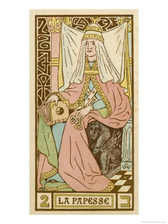 Tarot: 2 La Papesse, The Female Pope