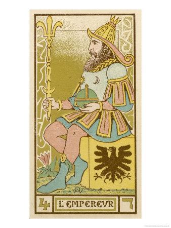 Tarot: 4 L'Empereur, The Emperor