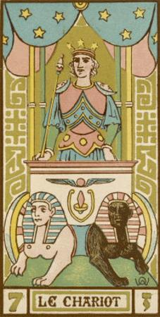 Tarot: 7 Le Chariot by Oswald Wirth