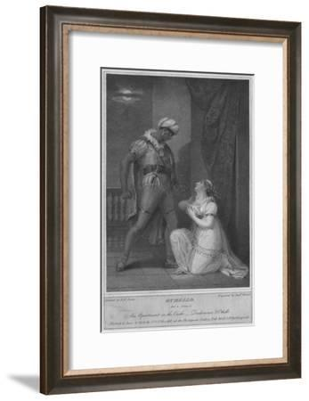 'Othello. Act 4. Scene 2. An Apartment in the Castle. Desdemona & Othello', 1801-Andrew Michel-Framed Giclee Print