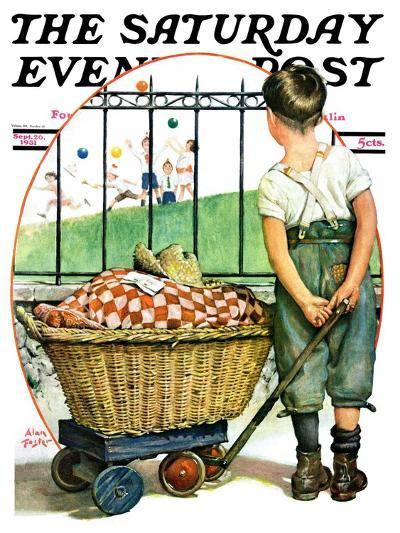 """""""Other Half, Two,"""" Saturday Evening Post Cover, September 26, 1931-Alan Foster-Giclee Print"""