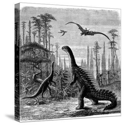 Ideal Jurassic Landscape in America, 1884