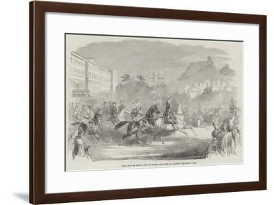 Otho, King of Greece, and His Queen, and Suite, at Athens--Framed Giclee Print