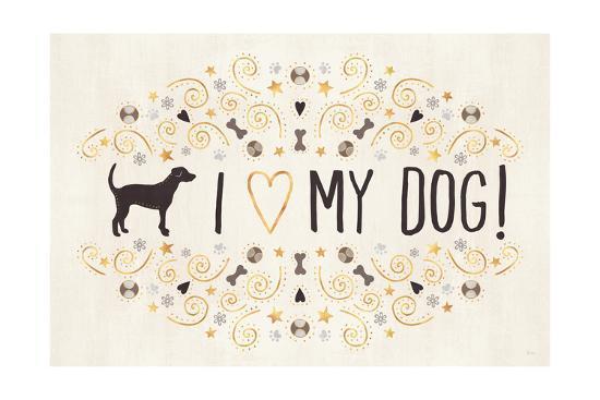 Otomi Dogs I Neutral-Veronique Charron-Art Print