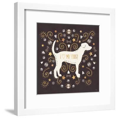 Otomi Dogs II Dark Neutral-Veronique Charron-Framed Art Print
