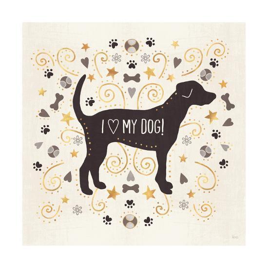 Otomi Dogs II Neutral-Veronique Charron-Art Print