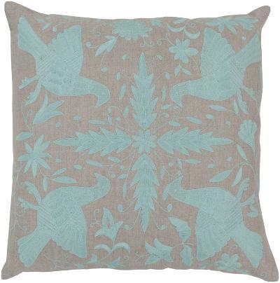 Otomi Linen Down Fill Pillow - Mint--Home Accessories