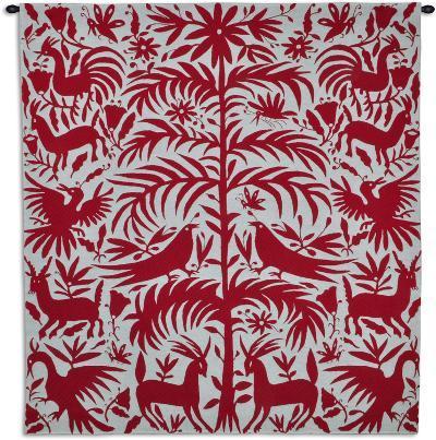 Otomi Poppy--Wall Tapestry