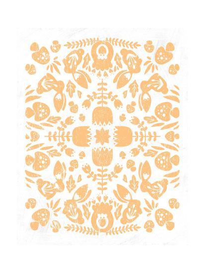 Otomi Rabbits Pastel-Cleonique Hilsaca-Art Print