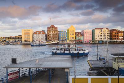 Otrobanda Ferry Terminal and Dutch Colonial Buildings on Handelskade Along Punda's Waterfront-Jane Sweeney-Photographic Print