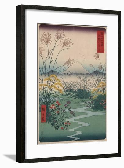 Otsuki Fields in Kai Province-Ando Hiroshige-Framed Premium Giclee Print