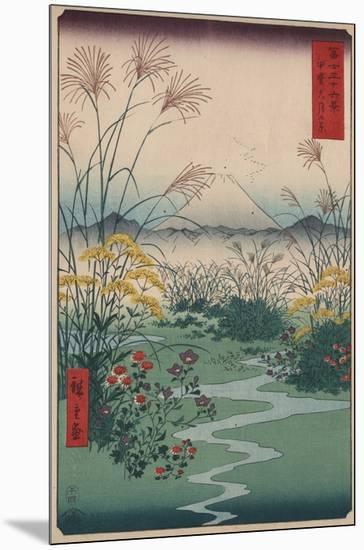 Otsuki Fields in Kai Province-Ando Hiroshige-Mounted Giclee Print