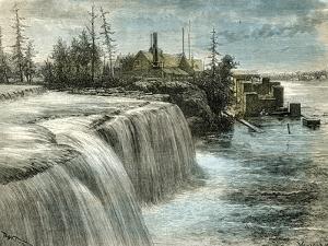 Ottawa Falls Canada 1873