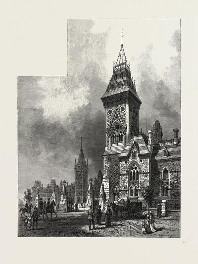 Ottawa, Tower of Eastern Block, Departmental Buildings, Canada, Nineteenth Century--Giclee Print