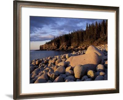 Otter Cliffs Fom Monument Cove, Maine, USA-Jerry & Marcy Monkman-Framed Photographic Print