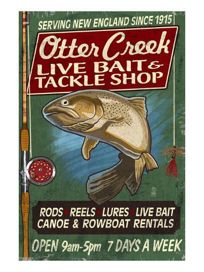 Otter Creek, Vermont - Tackle Shop-Lantern Press-Art Print