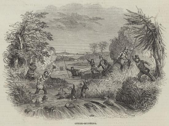 Otter-Hunting--Giclee Print