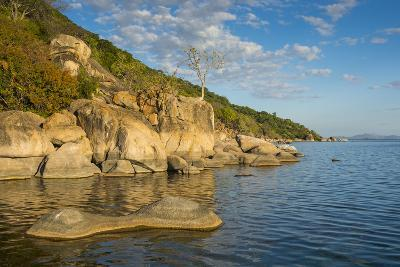 Otter Point at Sunset, Cape Maclear, Lake Malawi National Park, Malawi, Africa-Michael Runkel-Photographic Print
