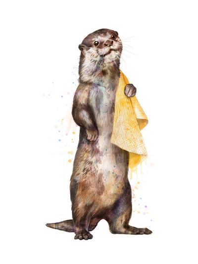 Otter-Laura Graves-Art Print