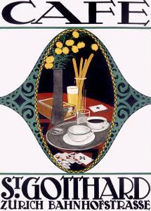 St. Gotthard Café by Otto Baumberger