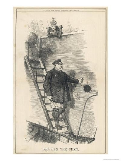 Otto Bismarck German Chancellor Dismissed by Kaiser Wilhelm II: Dropping the Pilot-John Tenniel-Giclee Print